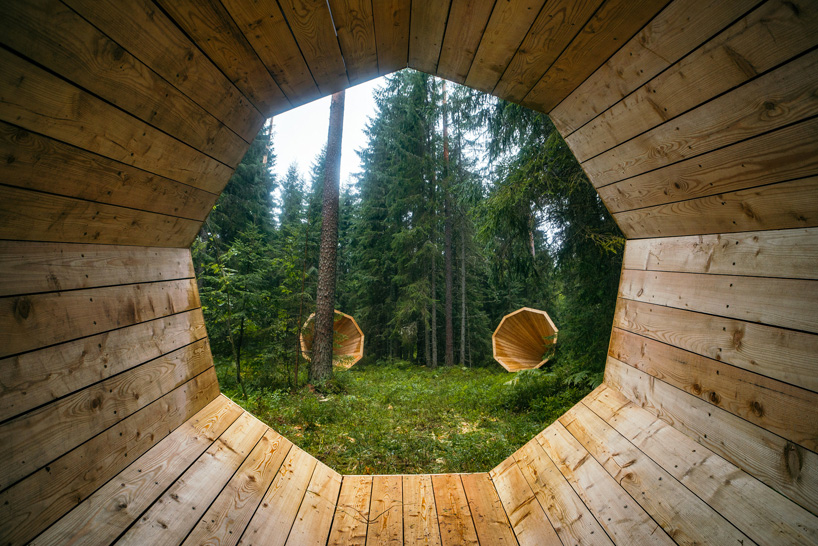 estonian-students-forest-megaphones-library-rooms-voru-county-designboom-11